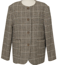 Rave Round Wool Check Jacket