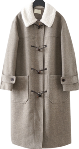 dumble detail duffel coat