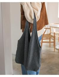 Lambs wool knit bag_C (size : one)
