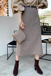 Moore Wool Check Skirt