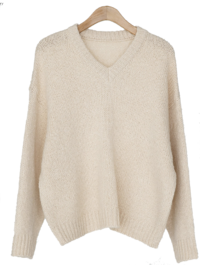 Daily pastel V neck knit