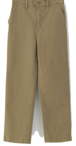Back-banded brushed cotton pants