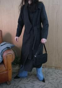 structural collar wool coat