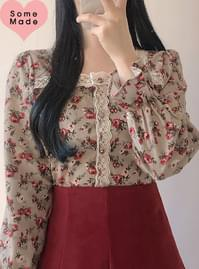 Self-made ♥ vintage antique roseblouse