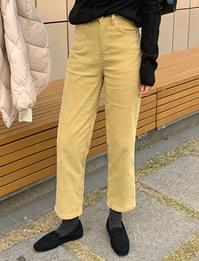 Bearing corduroy crop pants_J
