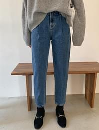 Dis pintuck denim pants_A