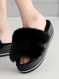 Bling Line Fur Slippers 5cm