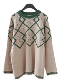 warm pattern point knit