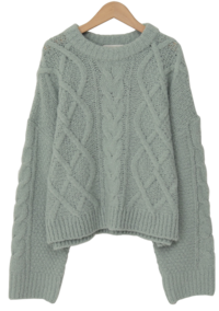 Perrie wool cable knit_C (size : free)