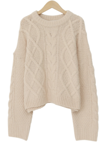 Perrie wool cable knit_C (울 40%) (size : free)