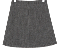A line check mini skirt