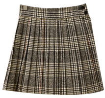 Pretzel check skirt