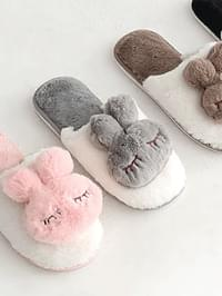 Closing Fur Slippers 1cm