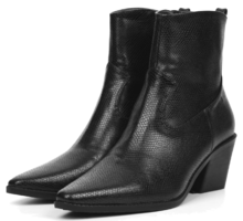 slim shape leather ankle boots