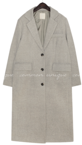 PET WOOL BOKASHI SINGLE LONG COAT 大衣外套