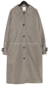 CLA WOOL HERRINGBONE SINGLE COAT 大衣外套