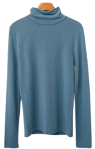 Label Fleece-lined Turtleneck T-shirt
