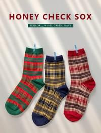 Honey check sox