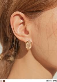 BRILL COLOR STONE GOLD EARRING