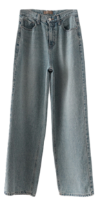 solid semi-wide maxi denim