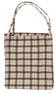 Munds check cotton bag_J