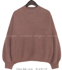 RASETTI WOOL ANGORA HALF NECK KNIT