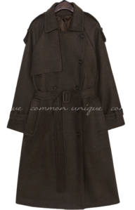 FLIN WOOL RAGLAN TRENCH COAT