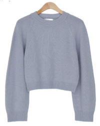 wool raglan crop knit