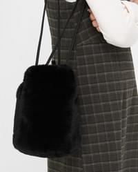 fluffy round shoulder bag
