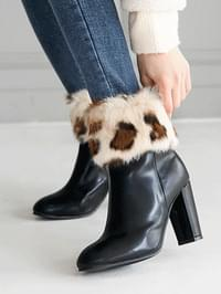 Itlan Real Fur Ankle Boots 9cm