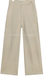 NAPPING BUTTON POINT WIDE SLACKS 長褲