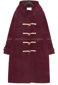 WOOL OVER FIT DUFFLE COAT