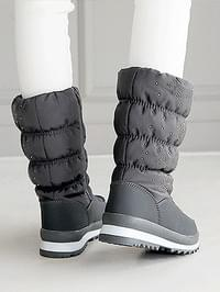 Snowflake Padded Middle Boots 4cm