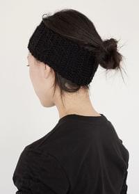 Wide knit hair band