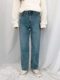 520 straight fit washed denim pants