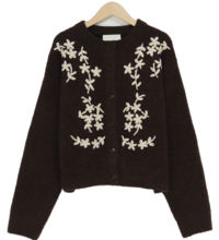 Piet bloom wool cardigan_H (size : free)