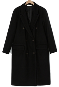 Real over fit wool double coat