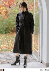 SIEN WOOL 40% RAGLAN SINGLE COAT
