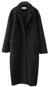 wearable boucle long coat