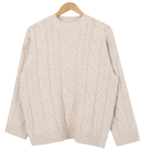 Or Cashew Wool Exhaust Knit