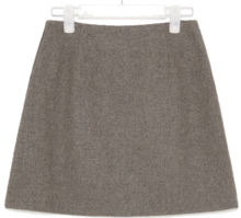 cute line wool mini skirt 裙子