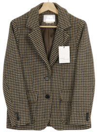 MMMM / tailoring check hunting wool jacket 夾克外套