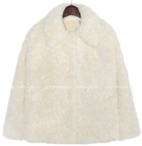 GLIA HIDDEN BUTTON FUR JACKET