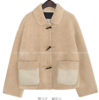 ROMING DUFFLE SUEDE FUR JACKET