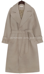 MOANA WOOL STRAP ROBE LONG COAT