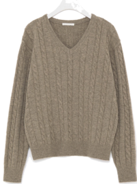 noble cable v-neck wool knit ニット