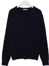 noble cable v-neck wool knit 針織衫