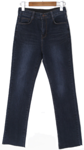 Brushed washing denim pants