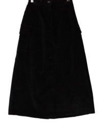 Corduroy Palm Farm Cargo Skirt