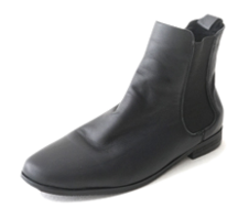 basic real leather chelsea boots ブーティ